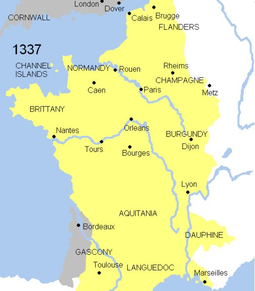 One Hundred Years' War in 1337