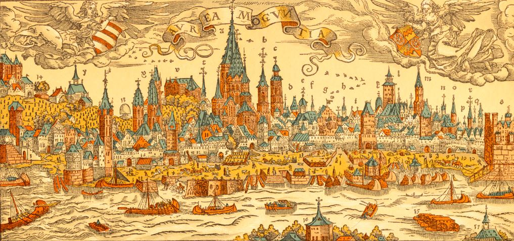 The city of Mainz in medieval times