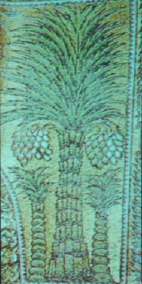 Palmtree decoration in the Dome of the Rock