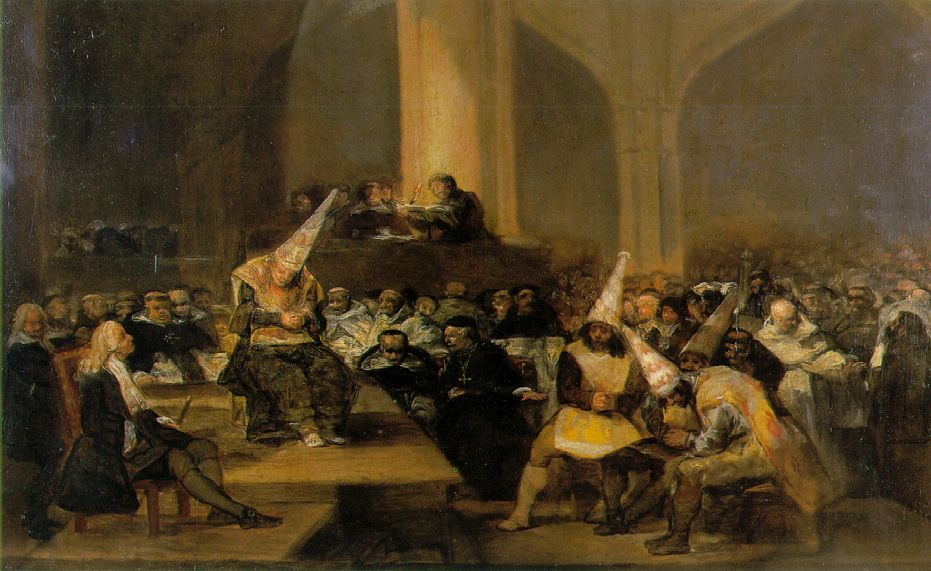 Inquisition scene by Goya