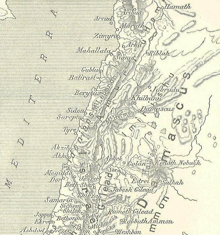 Levant Region Map Map of The Levant Region