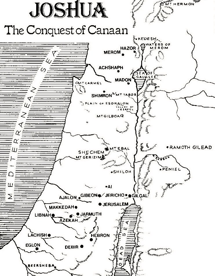 Map of the Conquest by Joshua