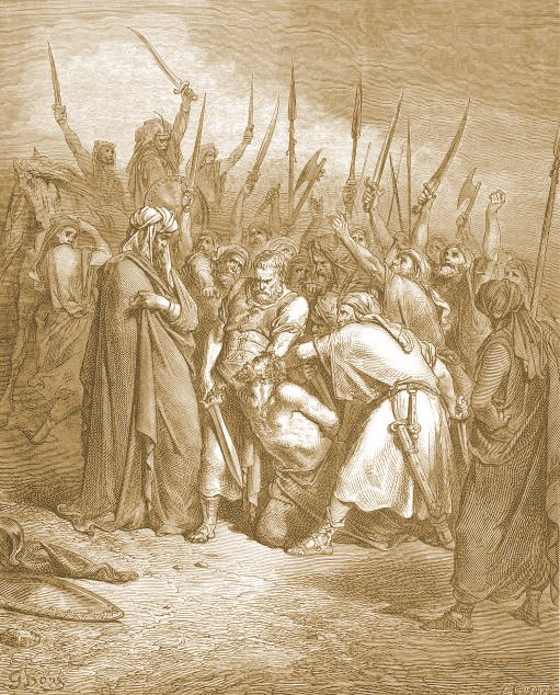 King Saul executes Agag king of Amalek